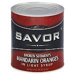 Savor Imports Broken Mandarin Orange in Light Syrup, 106 Ounce -