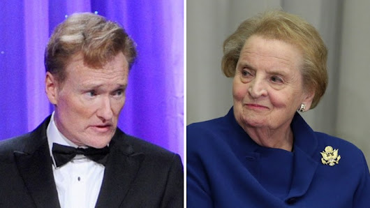 Conan O'Brien gets zinged by Madeleine Albright on Twitter