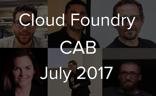 Cloud Foundry Advisory Board Meeting, Jul 2017: cf-deployment Is 3 Weeks Out - Cloud Foundry Live | Altoros