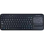 Logitech Touch K400 Wireless 2.4 GHz Keyboard - Touchpad - Black