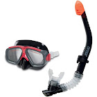 Intex Surf Rider Youth Swimming & Diving Mask Snorkel Set, Black/Red | 55949
