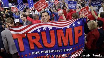 На съезде Республиканской партии в Кливленде Трамп был официально выдвинут кандидатом в президенты