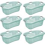 Sterilite Ultra HipHold 1.25 Bushel Plastic Clothes Laundry Basket (6 Pack) at Spreetail (VMinnovations | VM Express)