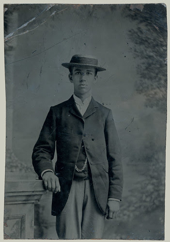 Tintype man with hat