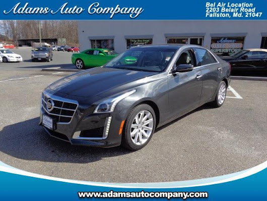 Used 2014 Cadillac CTS 2.0L Turbo RWD for Sale in Bel Air MD 21047 Adams Auto Company