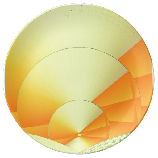 Cybernetic Sunrise Decorative Porcelain Plate