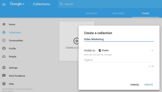 Google Plus Collections - COOL TOOL