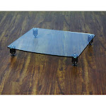 VTI 36411 Pro 36000 Series Amp Stand (Black Pole Clear Glass)