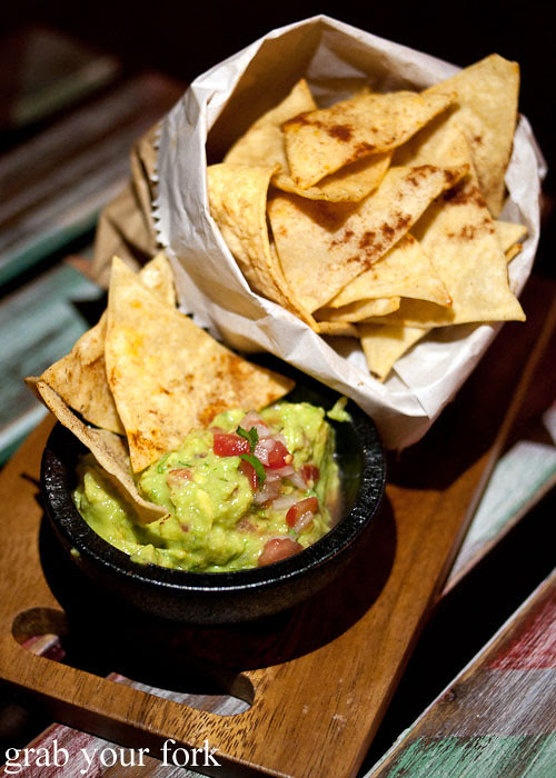 tortilla chips and guacamole at chica bonita manly