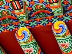 Detail, Guksadang shamanist shrine, Seoul, Korea