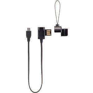 【送料無料】ストラップ付microUSBケーブル ブラック SB-SR01-USMU/BK