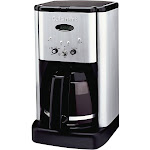 Cuisinart Brew Central 12-Cup Programmable Coffeemaker, Black/Silver