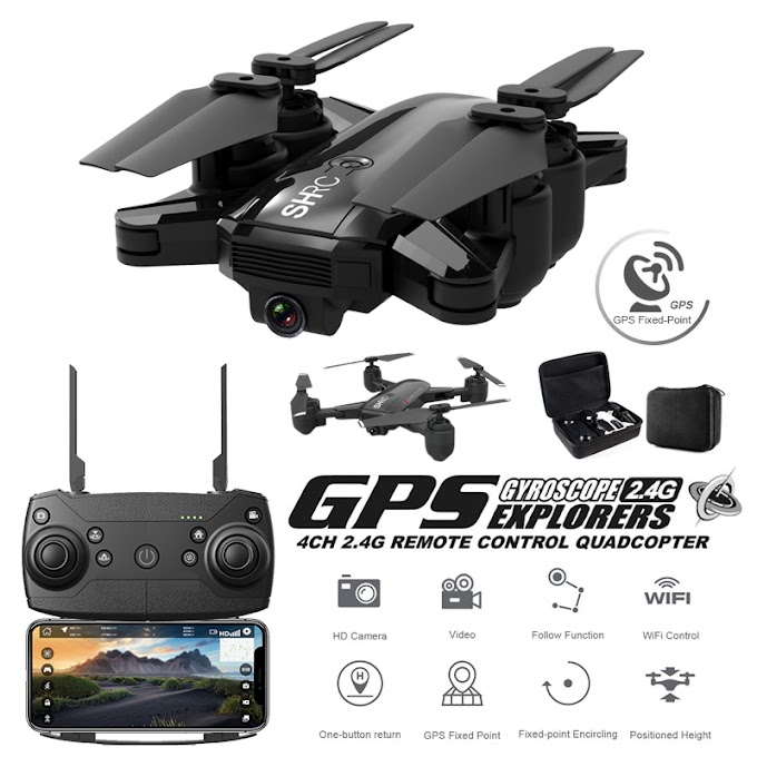 GPS Drone Quadrocopter 500 Meters Distance Set Point Fly Global Positioning 1080P Professional Camera Quadcopter With Camera