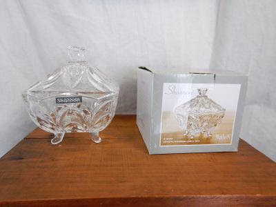 Shannon Crystal Dorset Crystal Covered Candy Box W/Lid In Box 5 1/2""