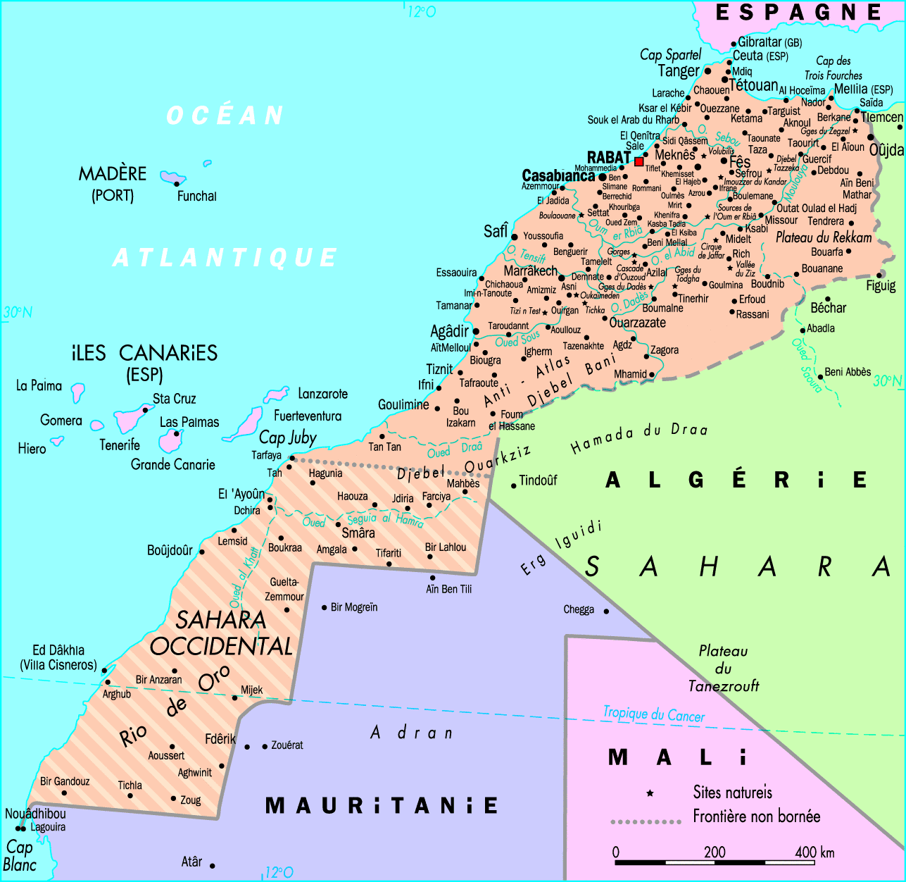 Carte Du Maroc.Carte Du Maroc World Of Map