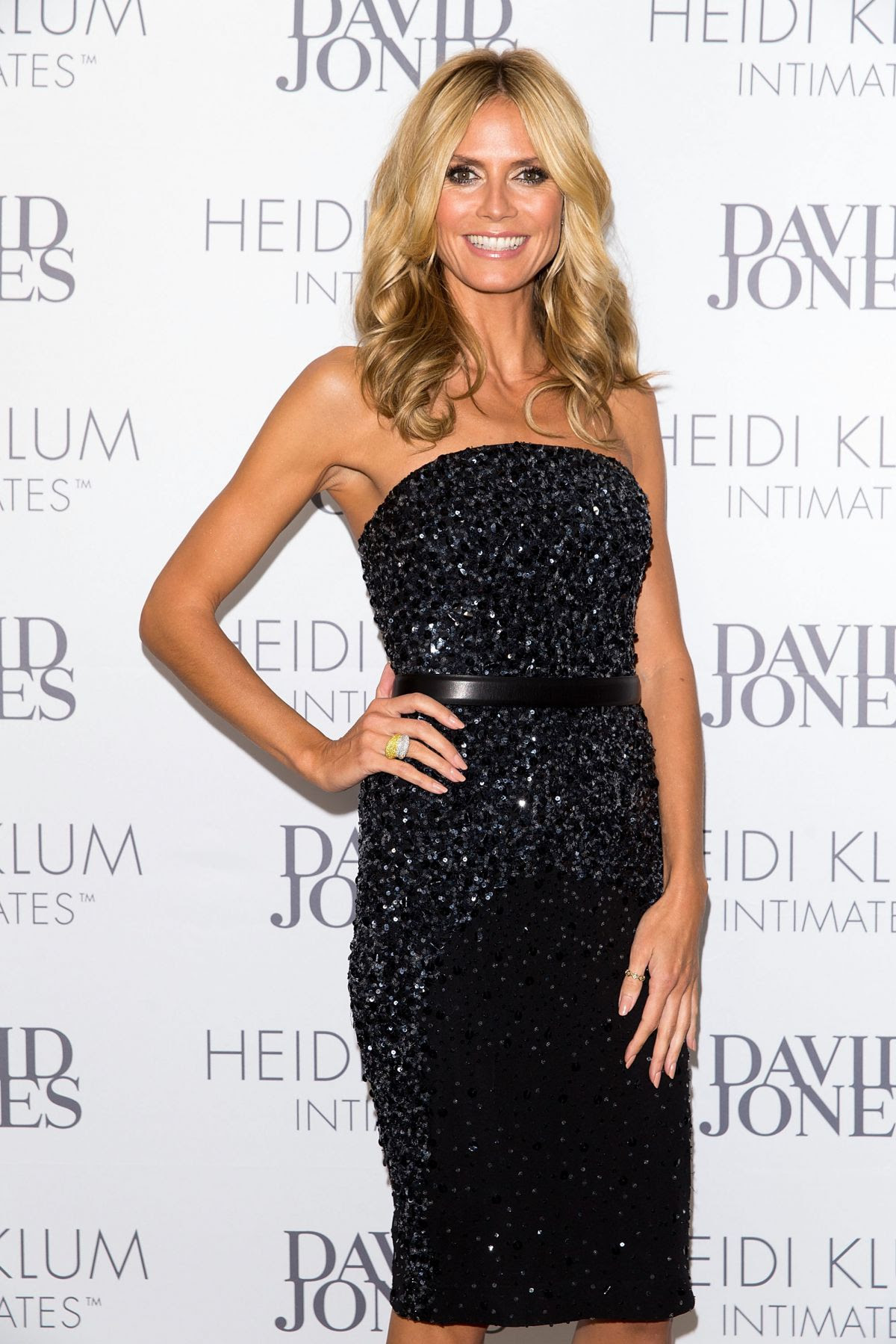 HEIDI KLUM at Intimate Dinner hosted by David Jones at Guillaume in Sydney
