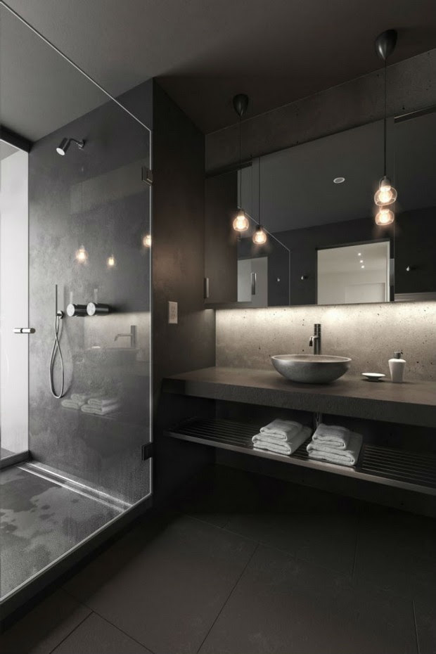 10 Black Luxury Bathroom Design Ideas 1
