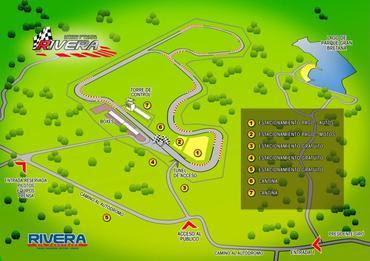 Desenho do Circuito de Rivera, no Uruguai