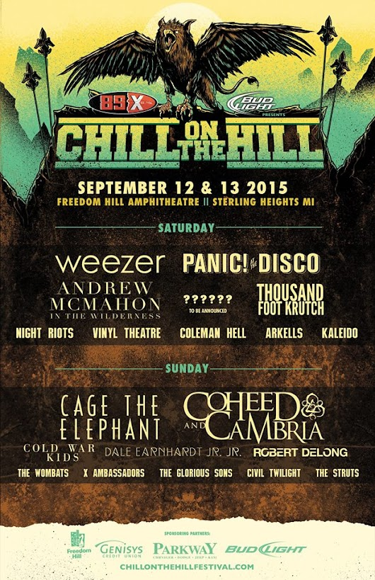 Chill on the Hill 2015 Part I: Arkells, Coleman Hell, Vinyl Theatre, Beartooth, Night Riots, and Thousand Foot Krutch - Under Bright Lights