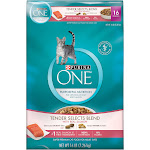 One Cat Food, Natural, Tender Selects Blend with Real Salmon, 16 Pounds - 16 lb