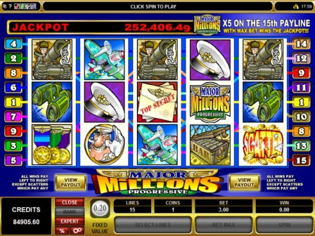Major Millions 5 reels Slot Machine: Progressive Jackpot
