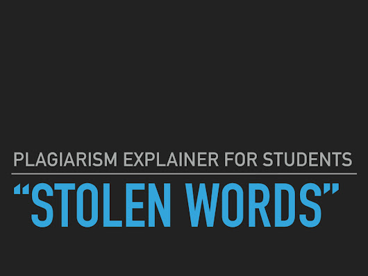 Plagiarism explainer for students