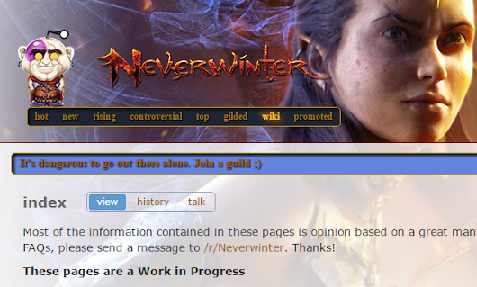 Official Neverwinter Subreddit Launching FAQ Project - Neverwinter:Unblogged