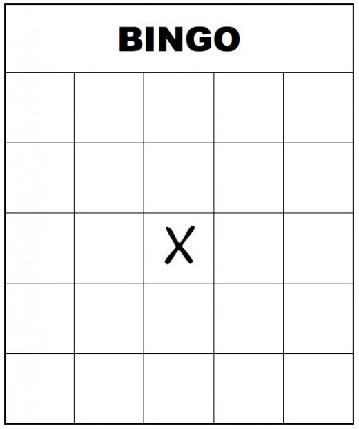 Printable bingo form