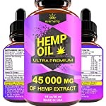 Everhemp – Hemp Oil Drops 45 000 MG – Effective Pain Reliever – Made in USA – Zero CBD, Zero THC