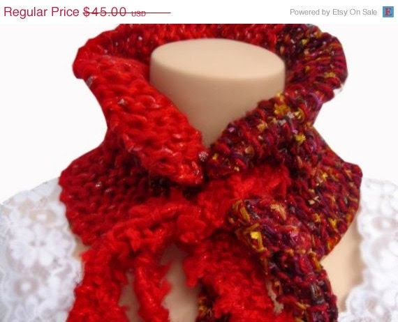 ON SALE Garnet Red Neckwarmer
