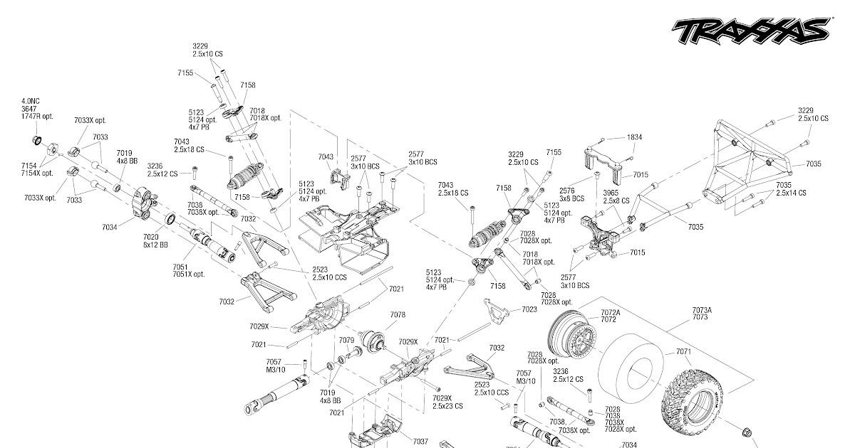 Wiring Diagram  30 Slash 2wd Parts Diagram