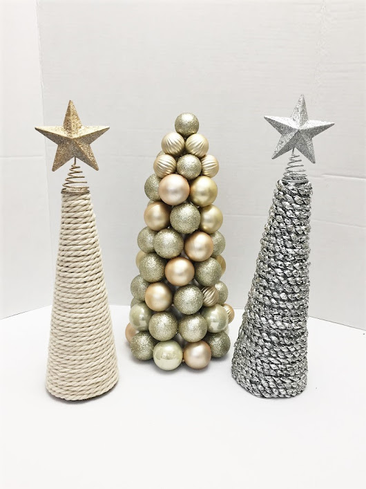Christmas Cone Trees - My Christmas Dining Room — Kay's Place