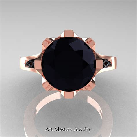 modern renaissance  rose gold  carat black diamond