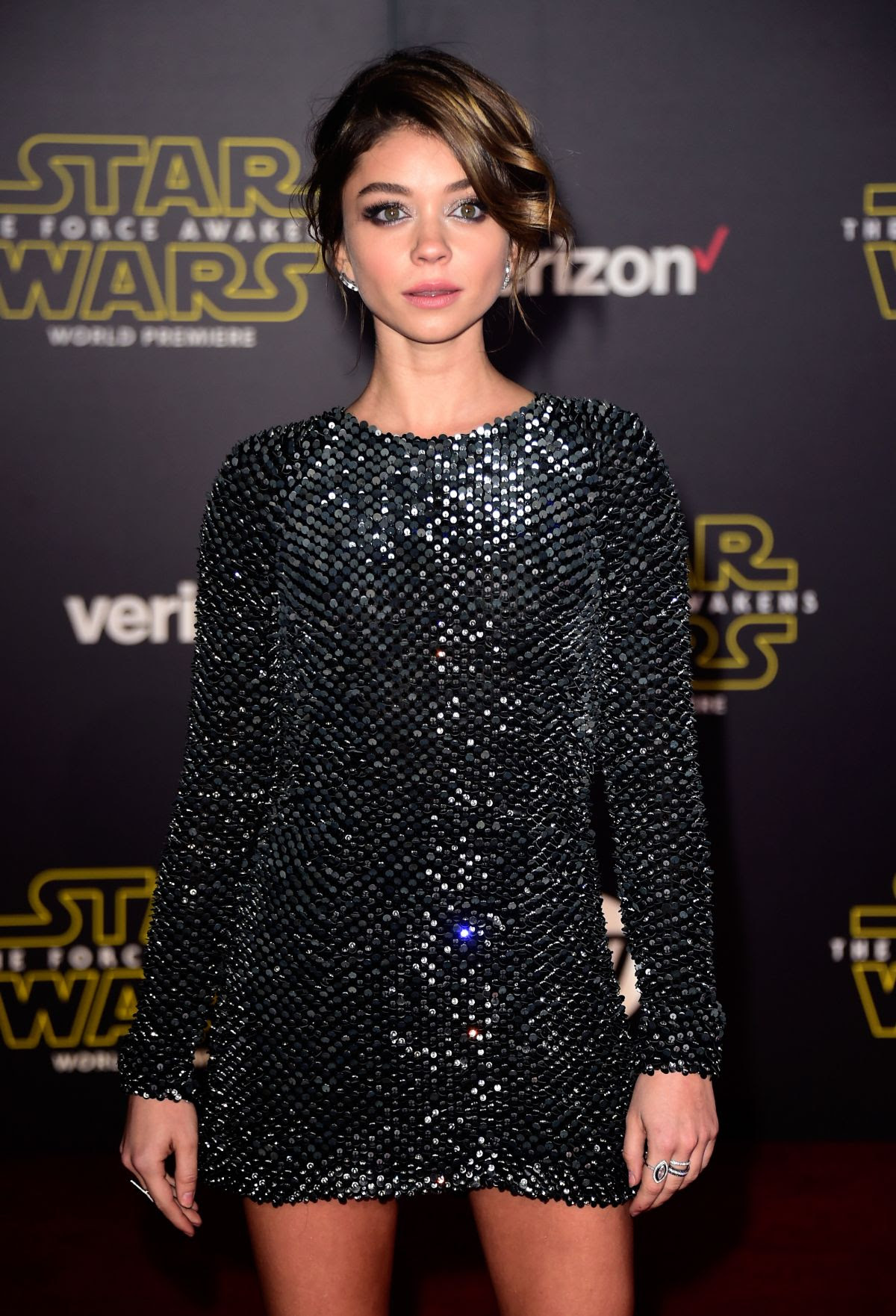 SARAH HYLAND at Star Wars: Episode VII – The Force Awakens Premiere in Hollywood 12/14/2015