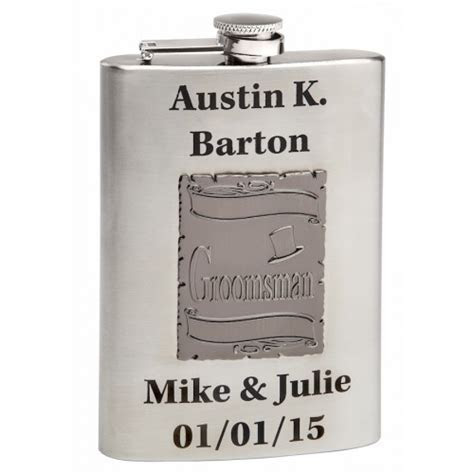 Buy Discount Wedding Flasks for The Groomsmen, Best Man