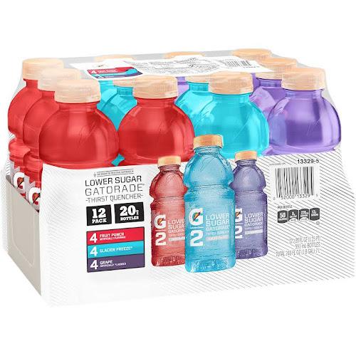Gatorade G2 Perform 02 Thirst Quencher, Variety Pack - 12 pack, 20 fl oz bottles