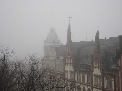 Sumu fog in Helsinki by Anna Amnell