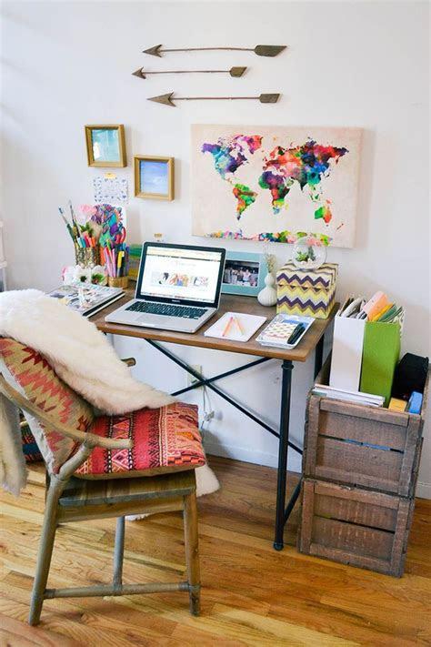 ideas  bohemian office  pinterest cozy