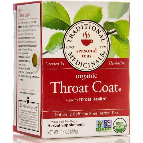 Traditional Medicinals Organic Throat Coat Herbal Tea - 16 bags, 1.13 oz box