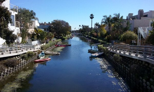Visiting the Venice Canal Historic District south of downtown Los Angeles...on January 30, 2017.