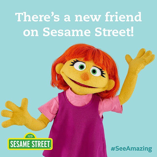 Sesame Street Introduces Julia, A Four-Year-Old Character With Autism