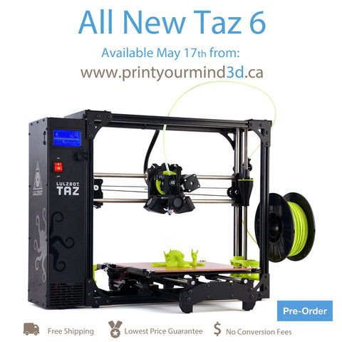 Announcing The Lulzbot Taz 6!