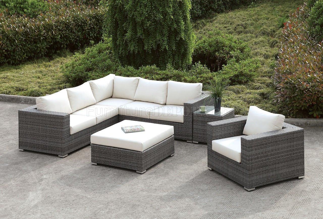 Somani CM-OS2128-10 Outdoor Patio L-Shaped Sectional Sofa Set