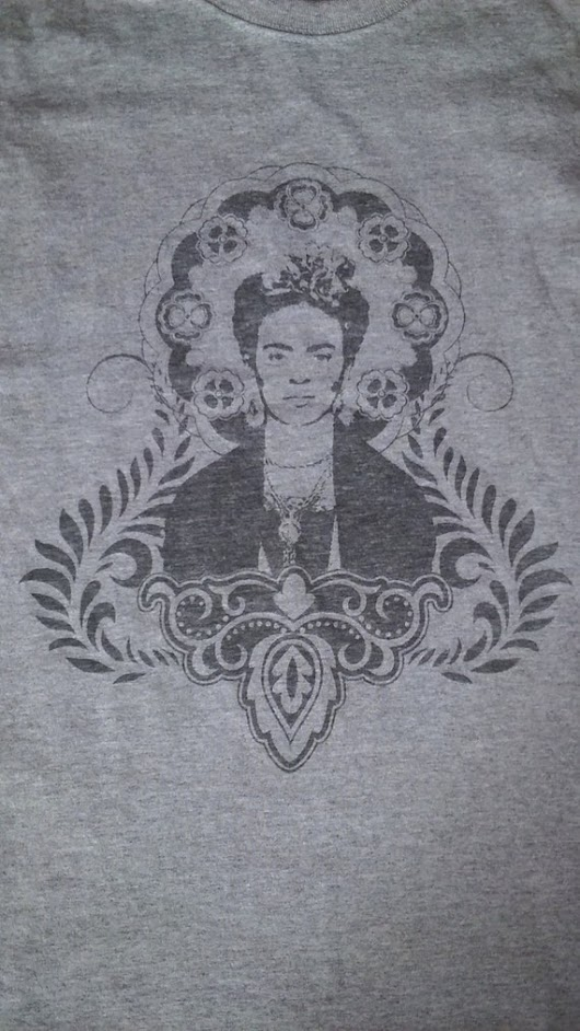 Friday Kahlo Tee  WOMEN  multi color choice by badmojodesign