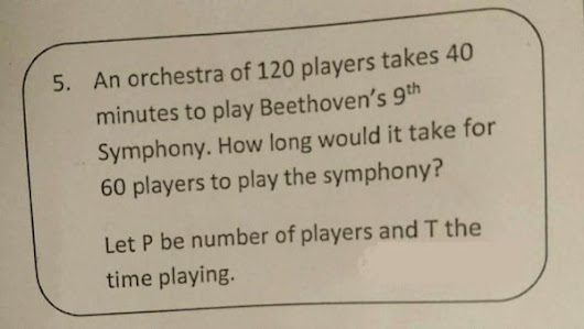 Stupid-looking maths question does the rounds, isn't stupid