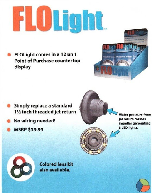 FLOLight - Swimming Pool Light - New Hydraulic Lamp For Pools