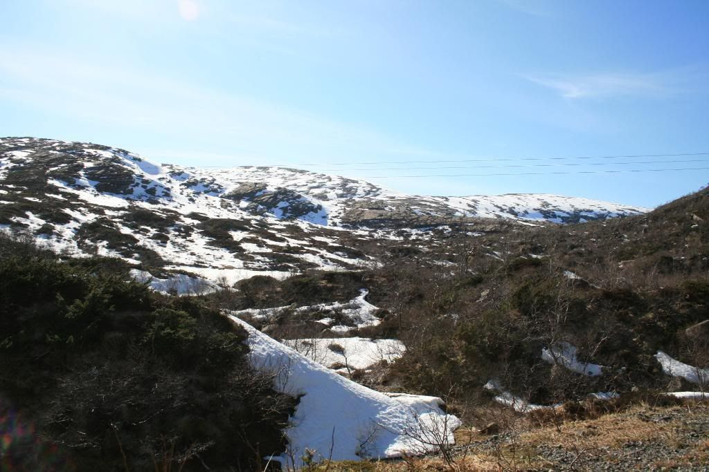 Utsikt fra parkeringsplassen i Magnhildskaret - her skulle turen mot Terdalskeipen startet!