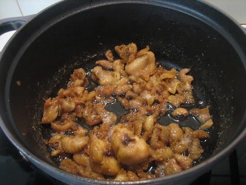 cioccioli di pollo in pentola