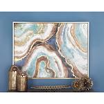 Multi Fir Glam Framed Wall Art Abstract 36 x 47 x 2 - 47 x 2 x 36