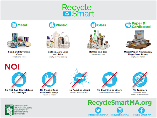 MassDEP Recycle Smart Initiative Provides Standardized Recycling Guidance for Massachusetts - RecyclingWorks Massachusetts